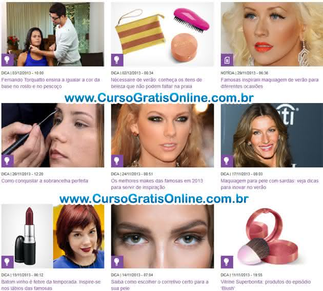 curso de maquiagem GNT