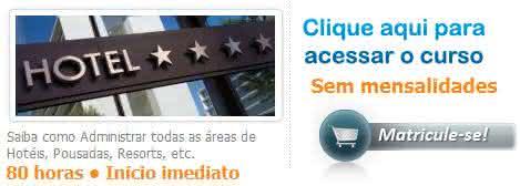 curso online de hotelaria