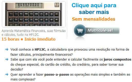 matemática hp12c