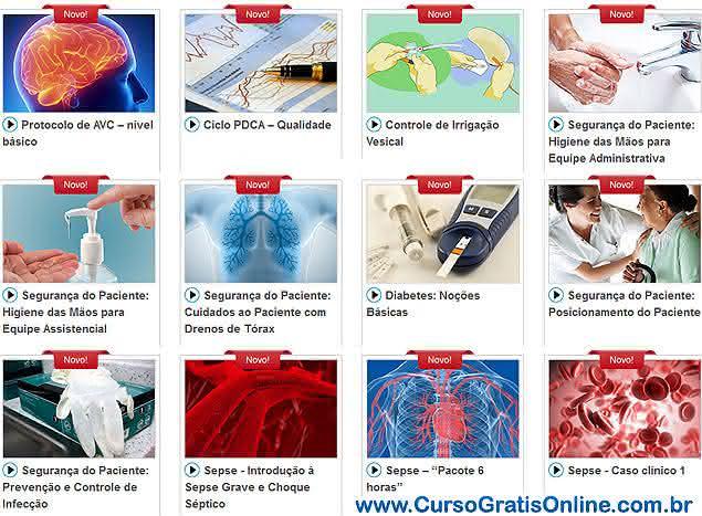 cursos na área da saúde