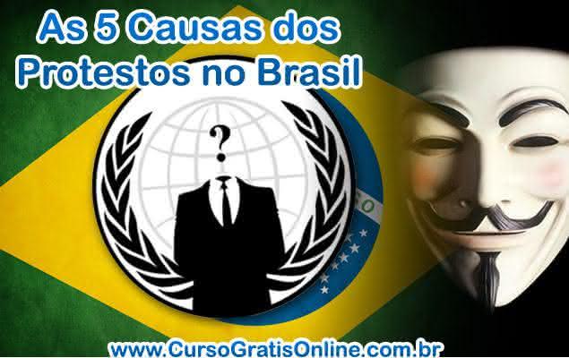 protestos brasil causas