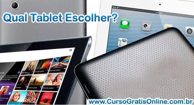qual tablet escolher