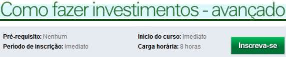 curso de como investir