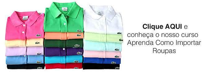 importar roupas
