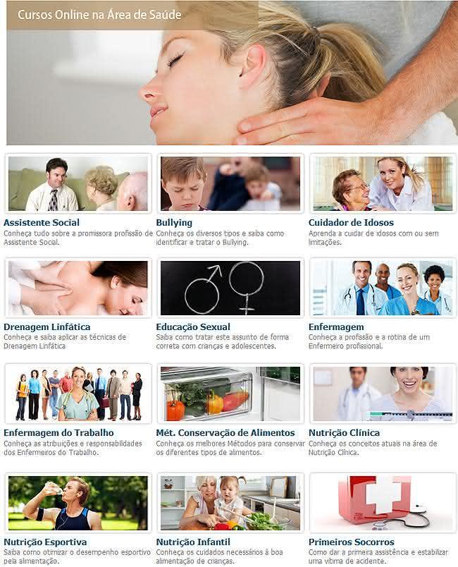 cursos online saúde