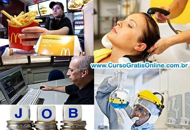 profissões e salários nos eua