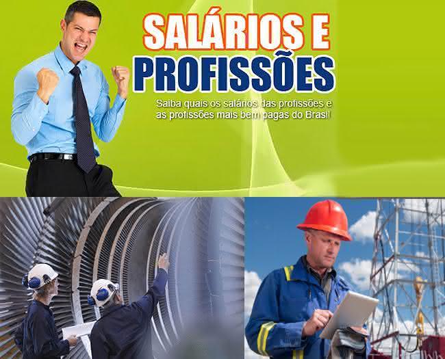 salários e profissões