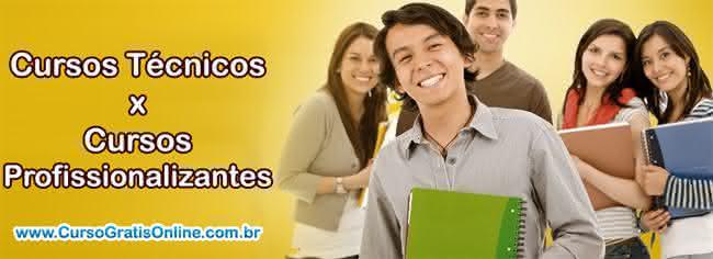 cursos profissionalizantes ou técnicos