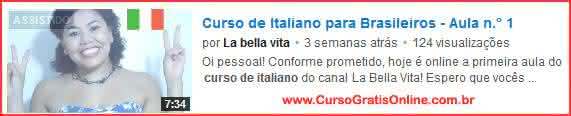 curso de italiano no youtube