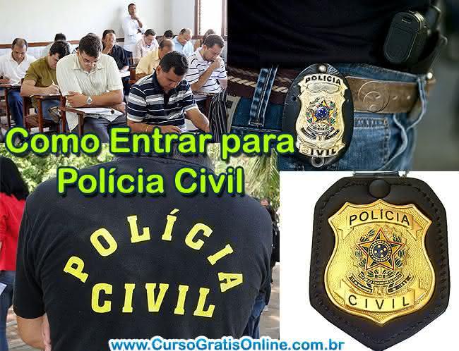 como entrar para polícia civil