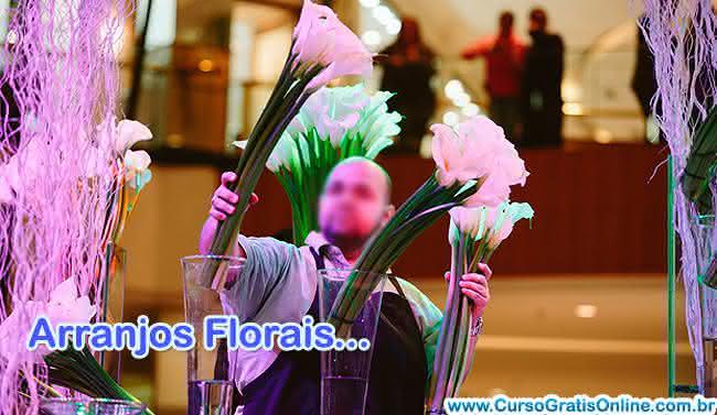 curso de arranjos de flores