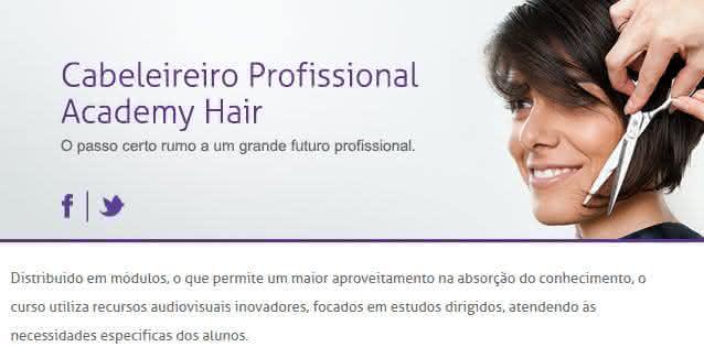 cabeleireiro profissional curso embelleze