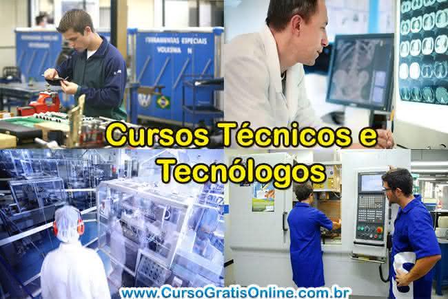 cursos técnicos x tecnológo