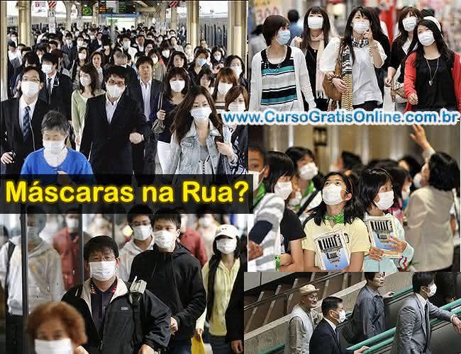 por que japoneses usam máscara nas ruas